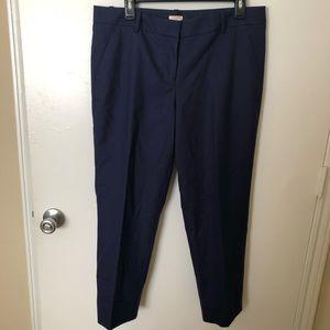 J Crew Navy Chino Stretch Pants Size 10
